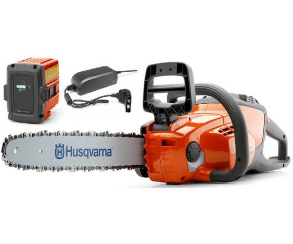 HUSQVARNA 120i akkumulátoros láncfűrész + akkumulátor + töltő